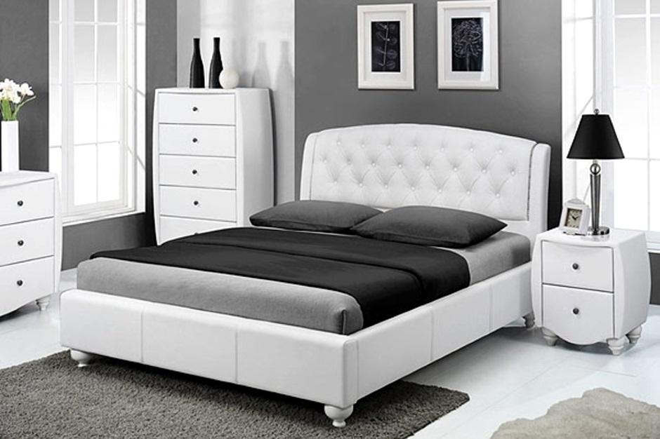 современная комната в бело-черном цвете