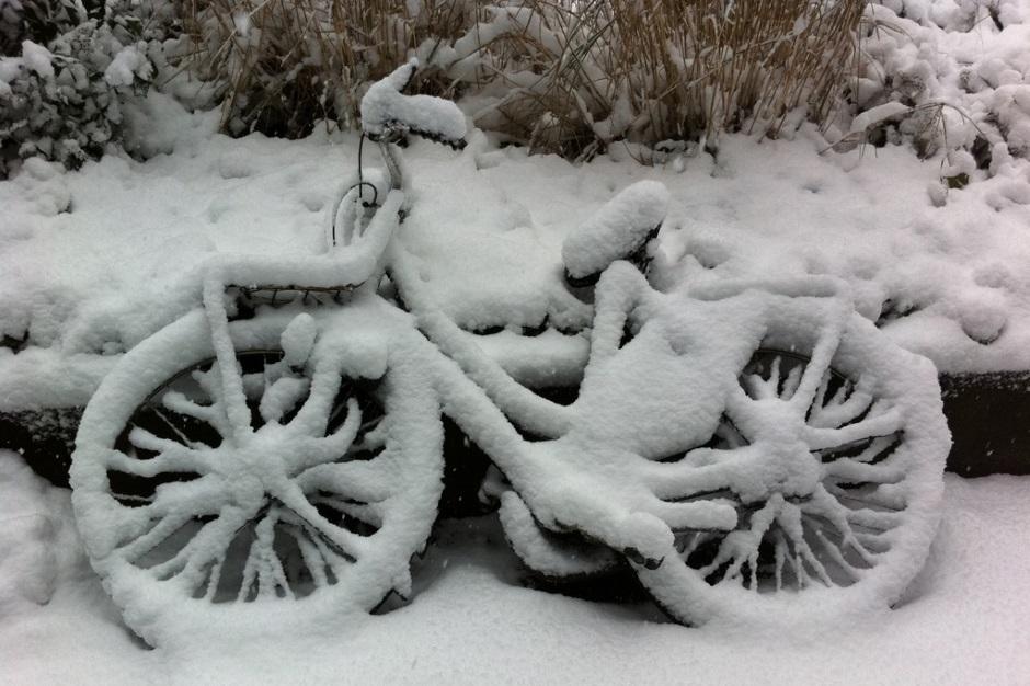 техника под снегом