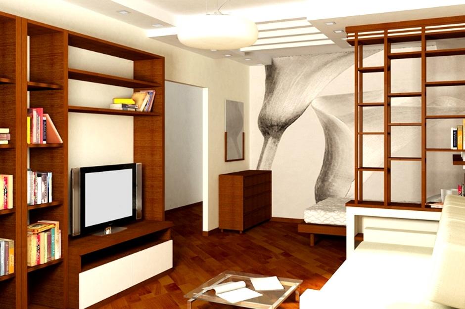 современная жилая комната