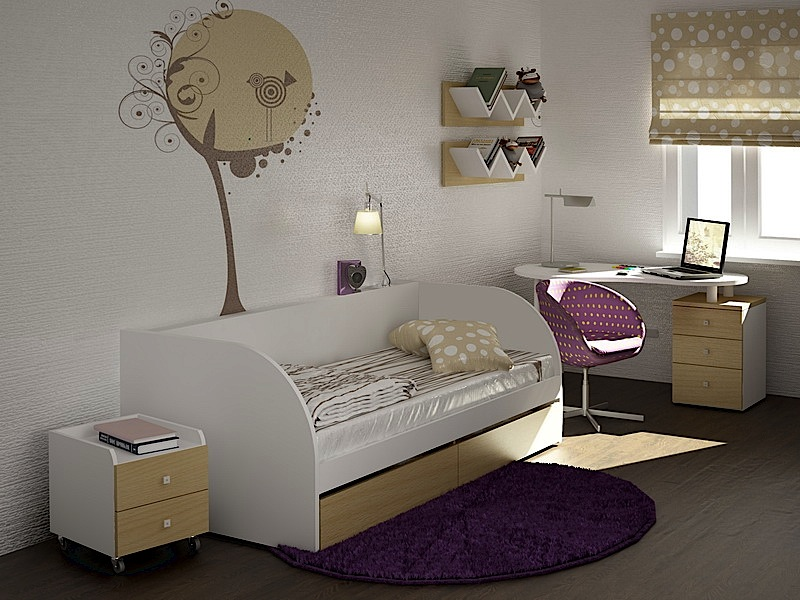 светлая мебель и стены