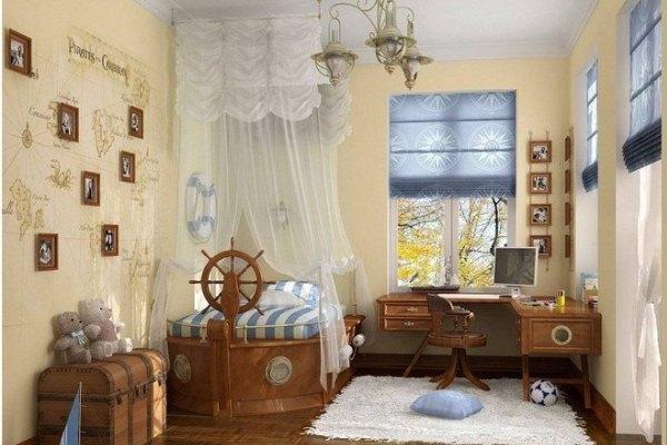 балдахин над кроваткой в виде парусов