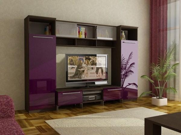 сочетание коричневого с фиолетовым