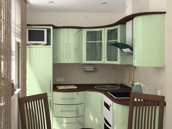 кухня с газовой колонкой хрущевка