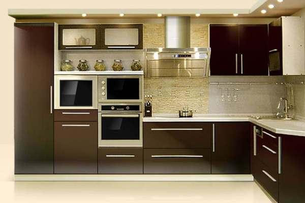 мебель хай-тек в интерьере кухни