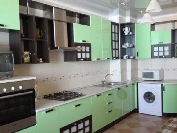 Дизайн кухни стандартной