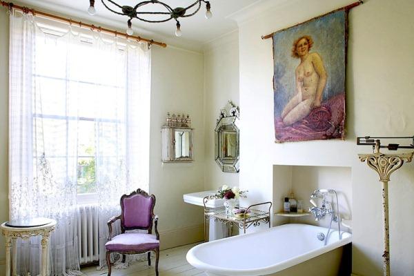 дизайн ванной в ретро стиле