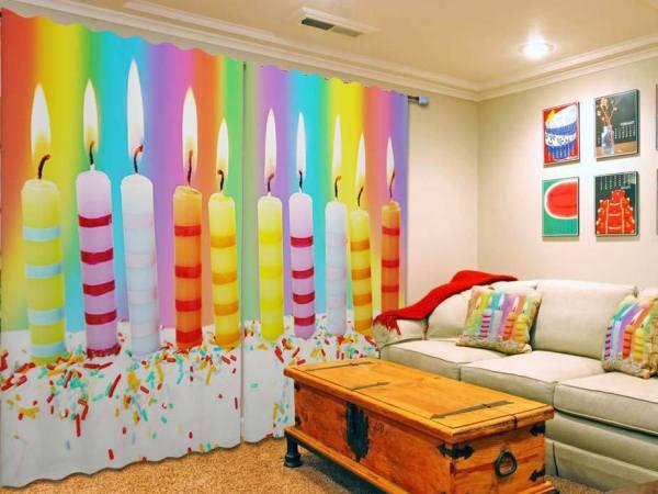 юбилейные свечи в гостиную