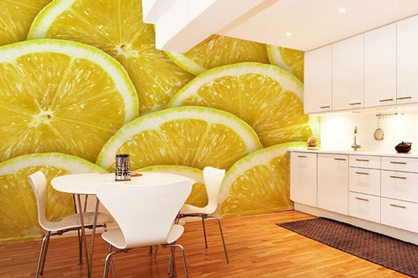 лимонные фотообои