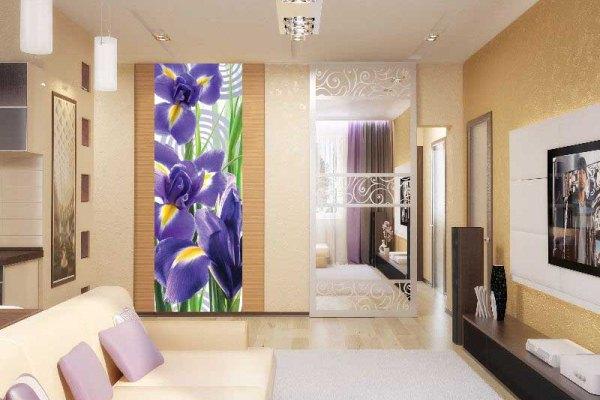 цветочный орнамент в спальню