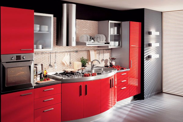кухни фото в красном цвете