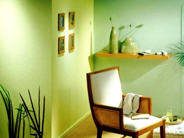 интерьер кухни со стекловолокнистыми обоями