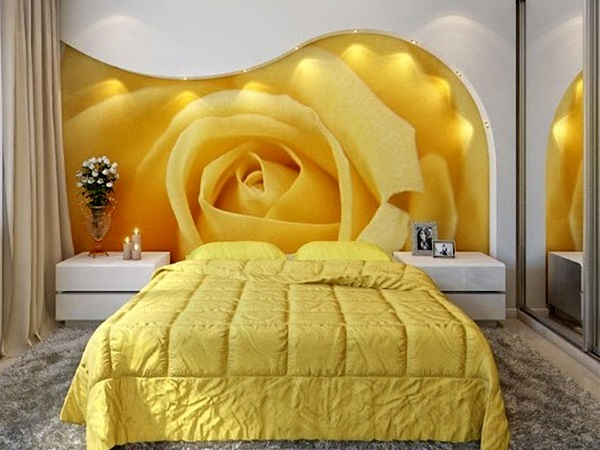 смелый дизайн с желтой розой