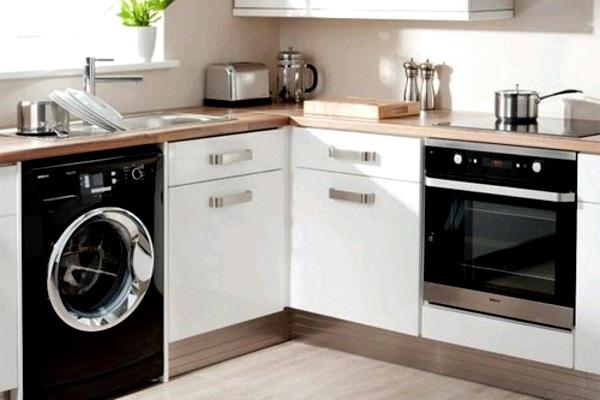 дизайн малогабаритной кухни со стиральной машиной