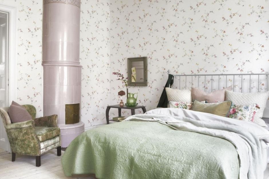элегантная спальня в стиле прованс