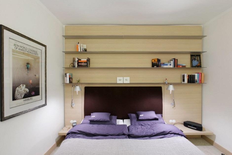 небольшая спальня минимализм