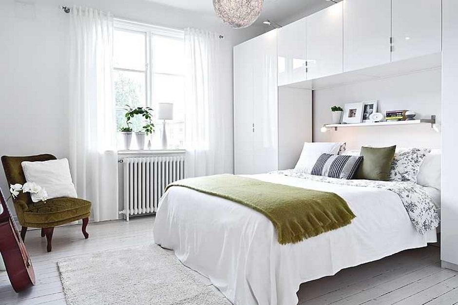 полностью белая стильная комната