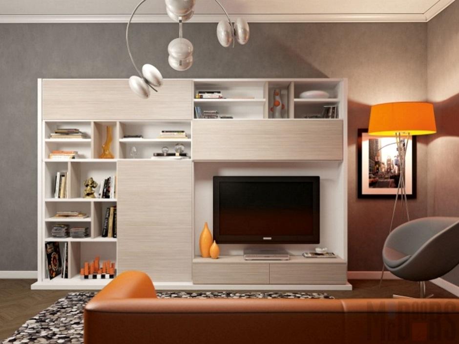 корпусная мебель для небольшой гостиной
