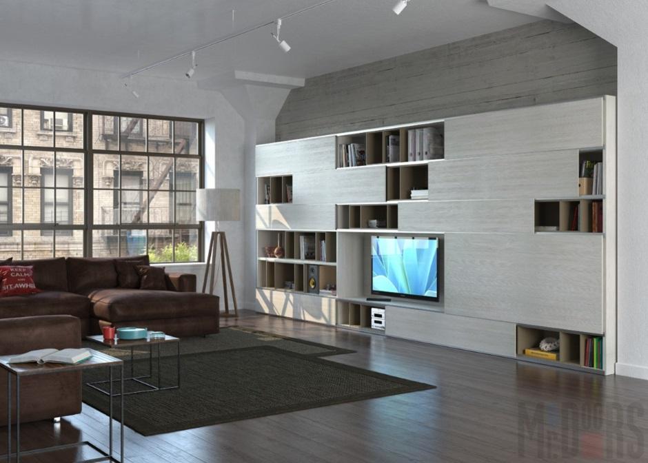 функциональная мебель для большой комнаты
