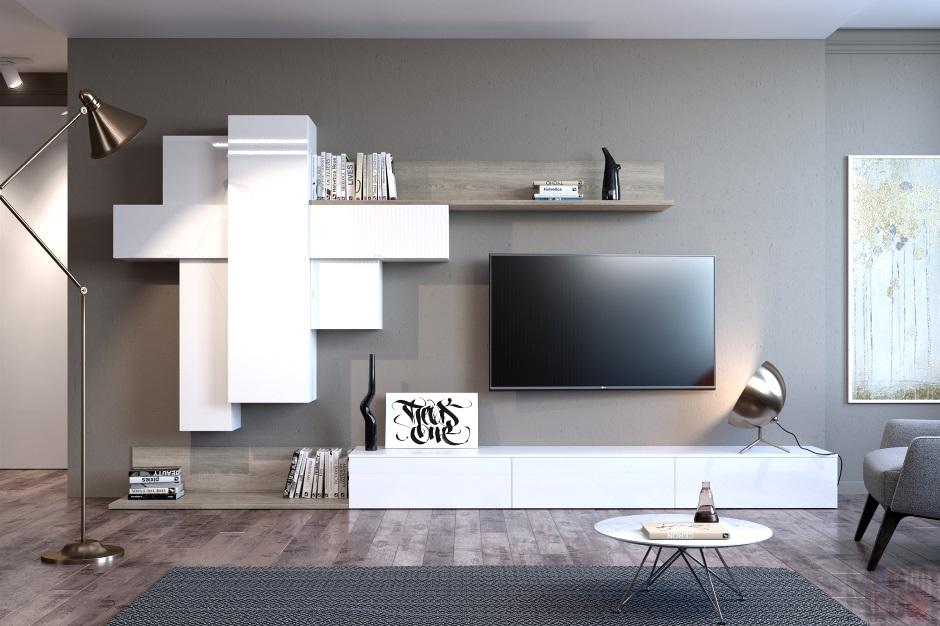 большой телевизор - обязательный элемент современной гостиной